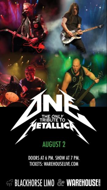 ONE (THE ONLY TRIBUTE TO METALLICA) at WAREHOUSE LIVE - August 2